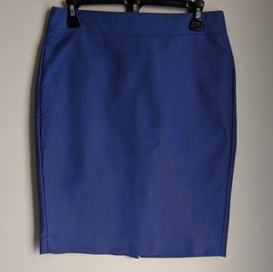 JCrew Blue No. 2 Pencil Skirt Size 2
